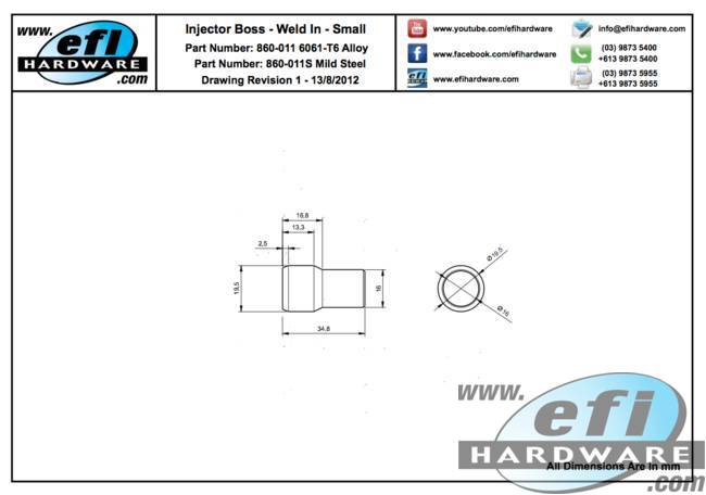 Weld In Injector Boss 860-011