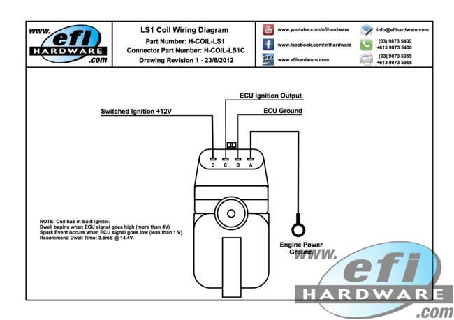 technical documents rh efihardware com Coil to Distributor Wiring LS1 Wiring Harness Diagram