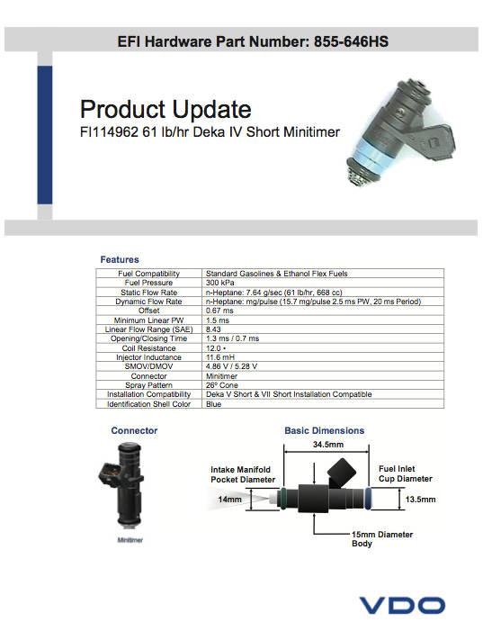 Siemens Injector Datasheet