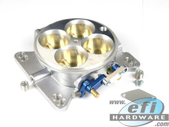 Throttle Body 4 Barrel Low Profile