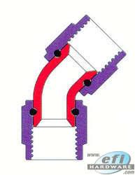 -6 to -6 swivel 45 degree fem/fem adapter