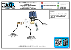 Ford Idle Control Valve Adapter Kit H-IDLEPWMA Revision 1