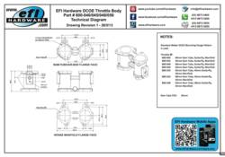 DCOE Throttle Body Technical Drawing