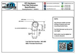 825-000 Fuel Rail Extrusion