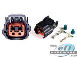 Nissan 2 Pin Injector Plug Black