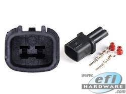 Nissan 2 Pin Connector Black - Male Pins