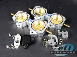 EFI Hardware E-Series 4cyl DCOE throttle block kit including TPS 45mm or 50mm product image