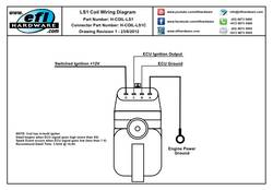 ls1 coil with igniter connector, Wiring diagram