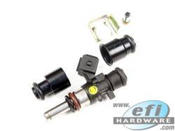 Injector Adapter Combo for Extended Nose Half Height Injectors to 14mm Fuel Rail product image