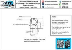 825-000 Fuel Rail Extrusion