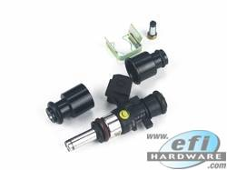 Injector Adaptor Combo for Extended Nose Half Height Injectors to 11mm Fuel Rail product image