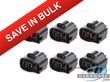 6 Pack 2 Pin 1JZ 2JZ 1UZ 4AG 3SG RX7 Ignition Coil Connector Black